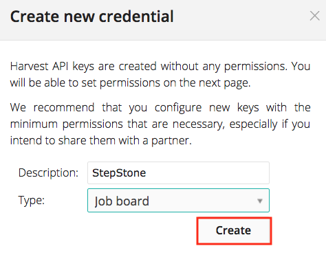 Create Credentials